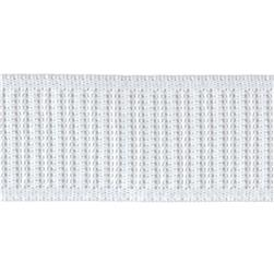 1-1/4'' Non-Roll Ribbed Elastic White - By the