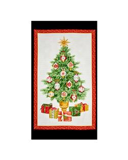 Christmas Elegance 24 In. Panel Cream/Panel