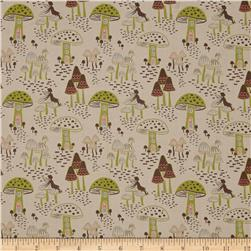 Enchanted Forest Mushrooms Beige