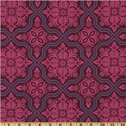 Heirloom Voile Tile Flourish Garnet