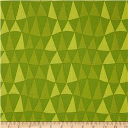 Jane Sassaman Prairie Chic Triangle Twist Green