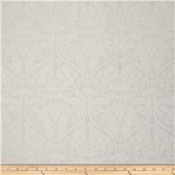 Ramtex Faux Leather Damask Pearl Fabric