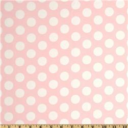 Curiosities Flannel Cookie Dots Pink Lemonade