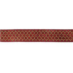 "Decorative Trim 2"" Braid Red/Gold"