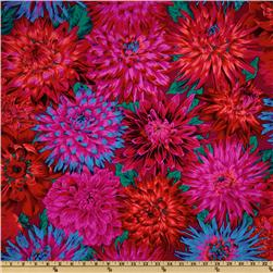 Kaffe Fassett Collective 2012 Cactus Dahlias Red Fabric