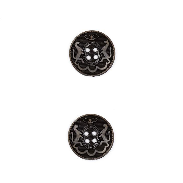 "Metal Button 3/4"" Armee Militare Black Metal"