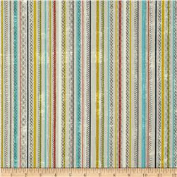 Moda Garden Project Stitched Stripes Pebble