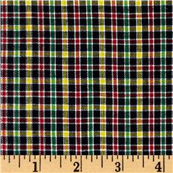 Rustic Woven Plaid Navy/Red/Green/Yellow