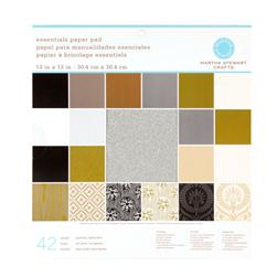 "Martha Stewart Crafts Essentials Paper Pad 12"" X 12"" Neutrals"