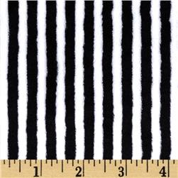 Minky Cuddle Classic Mini Stripe Black/Snow Fabric
