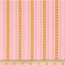 Windham Modern Country Floral Stripe  Pink