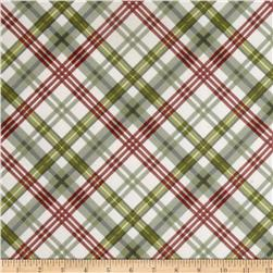 Romantic Afternoon Flannel Plaid Green