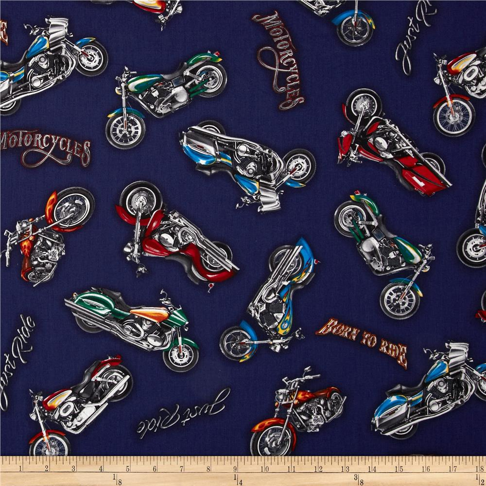 Born To Ride Motorcycles Navy