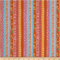 Michael Miller Quiet Time Sweet Dreams Orange Fabric