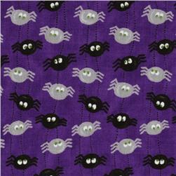 Moda Pumpkin Party Itsy Bitsy Spiders Potion Purple