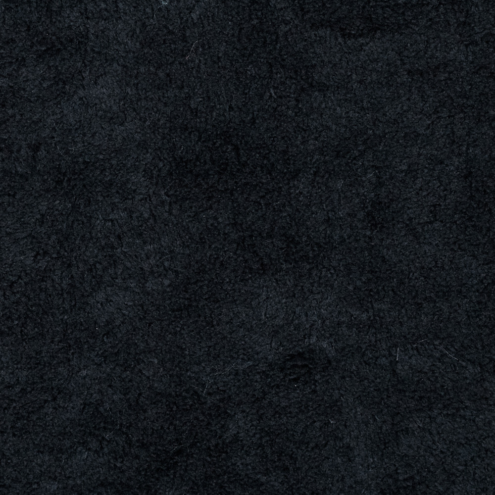Whisper Coral Fleece Solid Black Fabric by Newcastle in USA