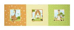 "Susybee Zoe the Giraffe 13"" Pillow Panel Orange"