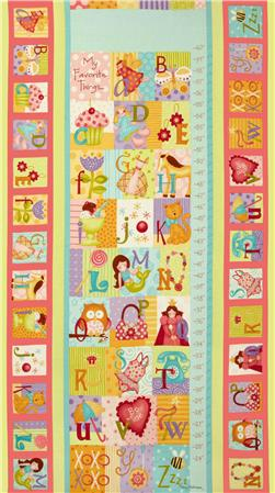 Curiosities Growth Chart Panel Lollipop Pink