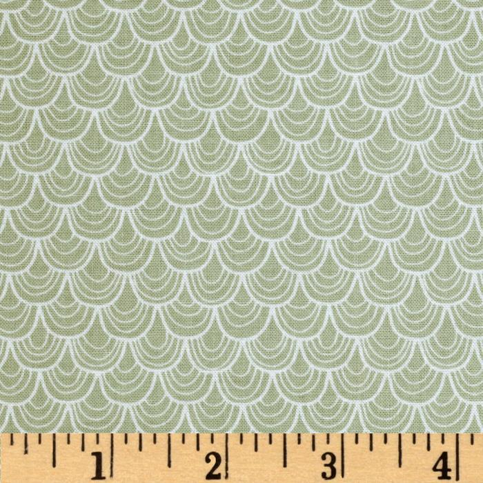 Riley Blake A Merry Little Christmas Merry Scallop Grey