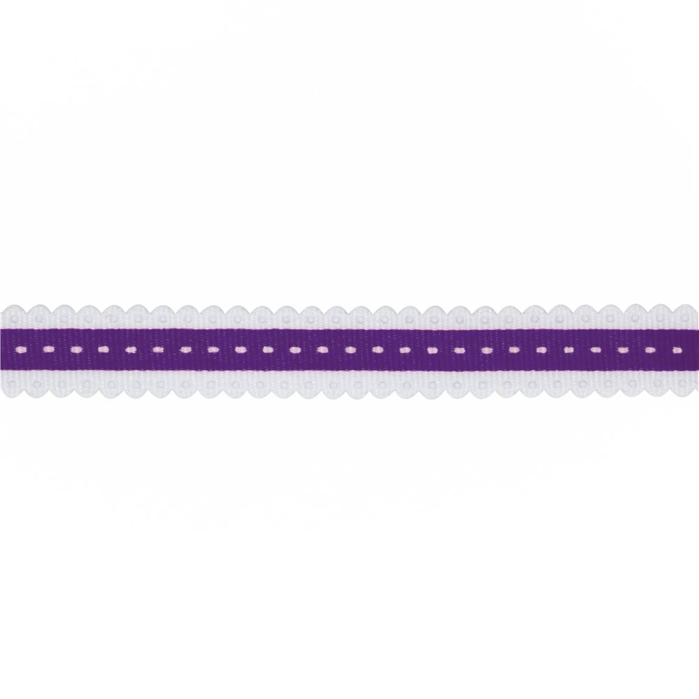 1/2'' Printed Scallop Grosgrain Ribbon Purple
