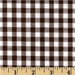 Woven 1/4'' Gingham Brown Fabric