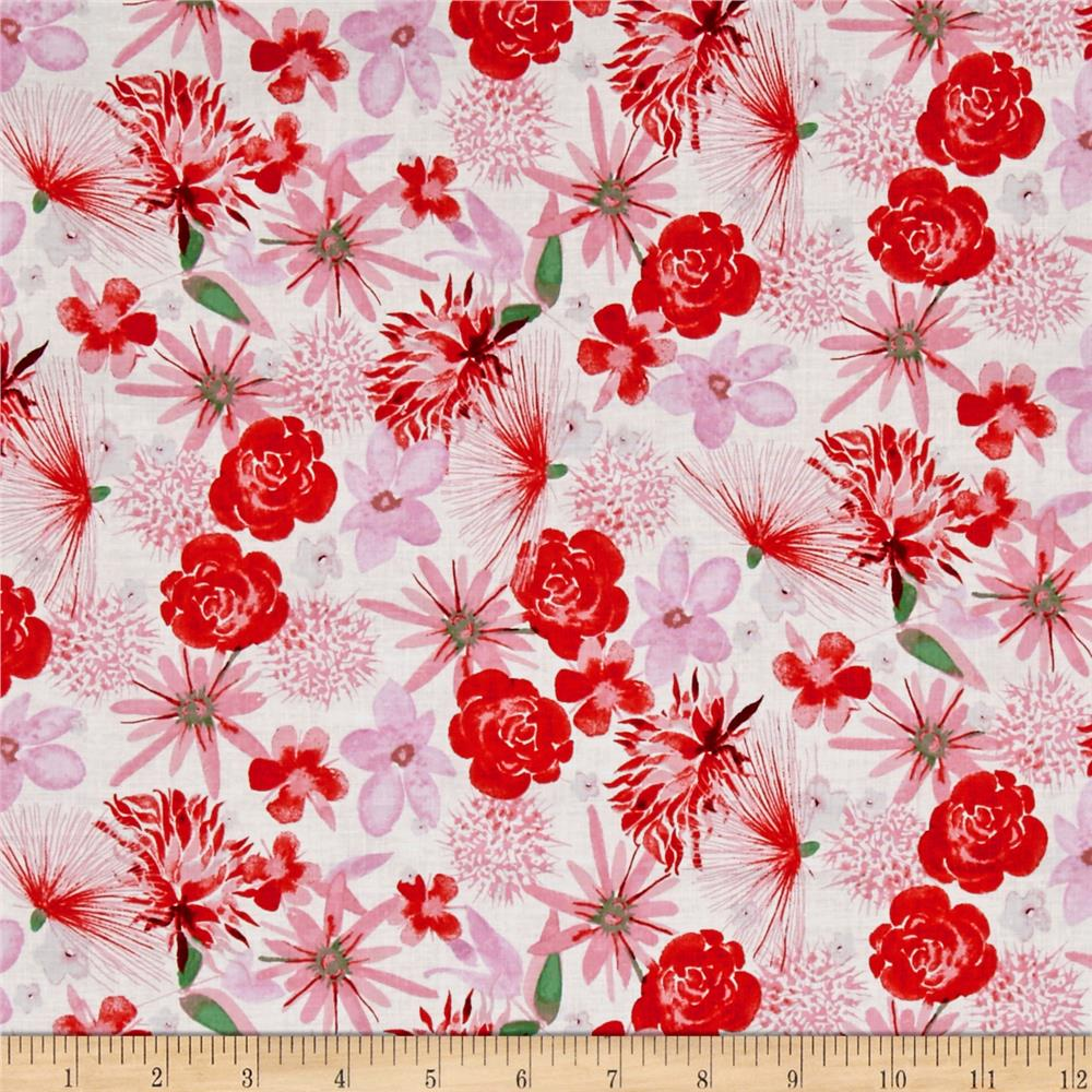 Baby gone wild floral white discount designer fabric for Cheap baby fabric