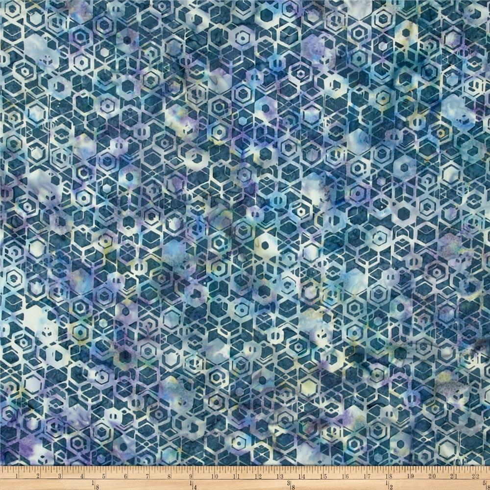 Bali Batiks Handpaints Hexagons Delft