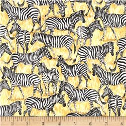 Safari Zebras Black/White/Gold