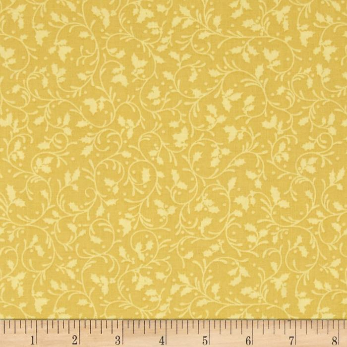 Holiday Blooms Tonal Swirl Gold