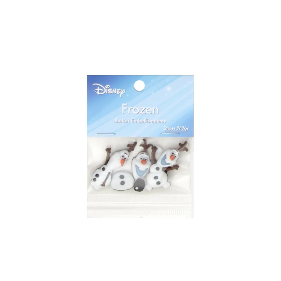 Dress It Up Disney Olaf Button