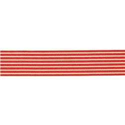 1.5'' Grosgrain Stripes Red/Ivory