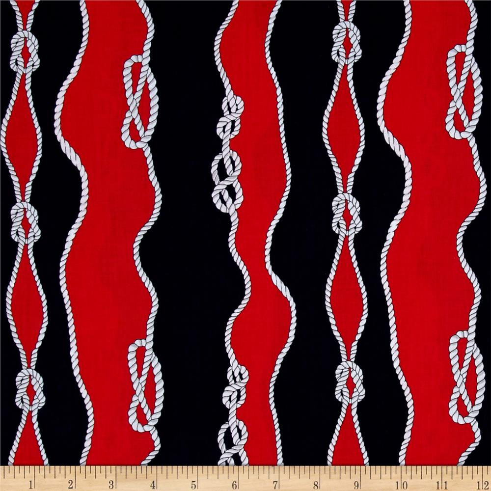Kanvas Cabana II Sailor's Knot Navy/Red