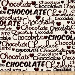 Chocoholic Chocolate Words Cream