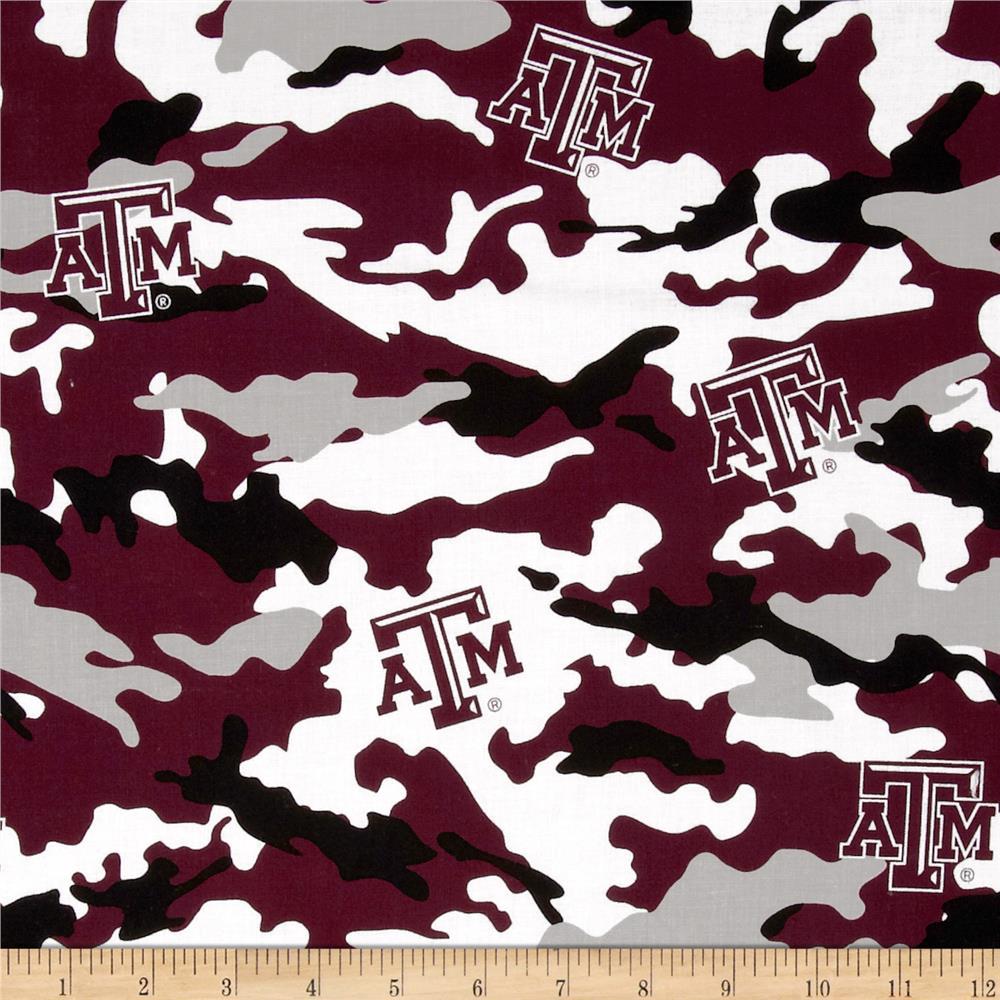 Texas A&M Cotton Broadcloth Camouflage
