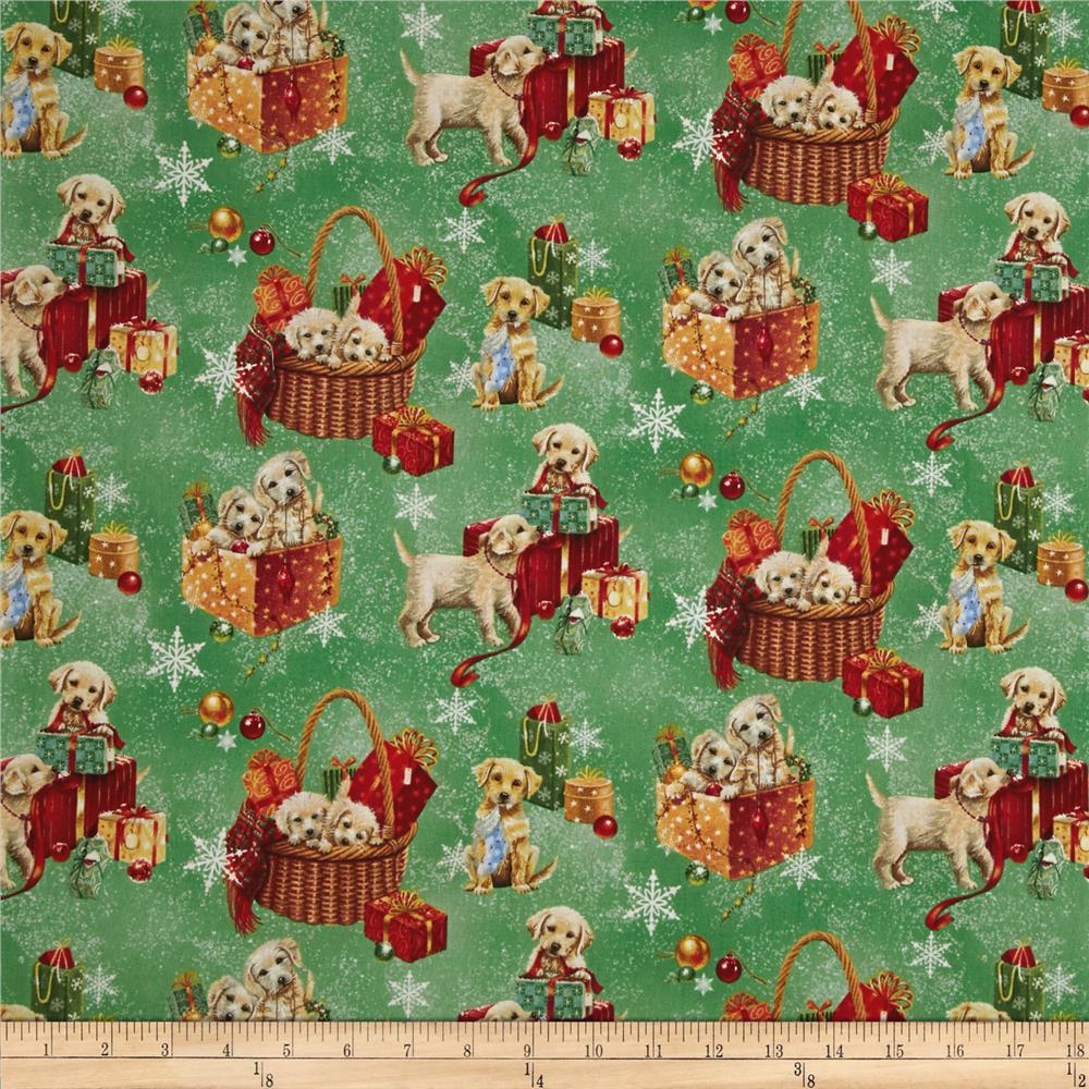 Santa Paws Puppies Green