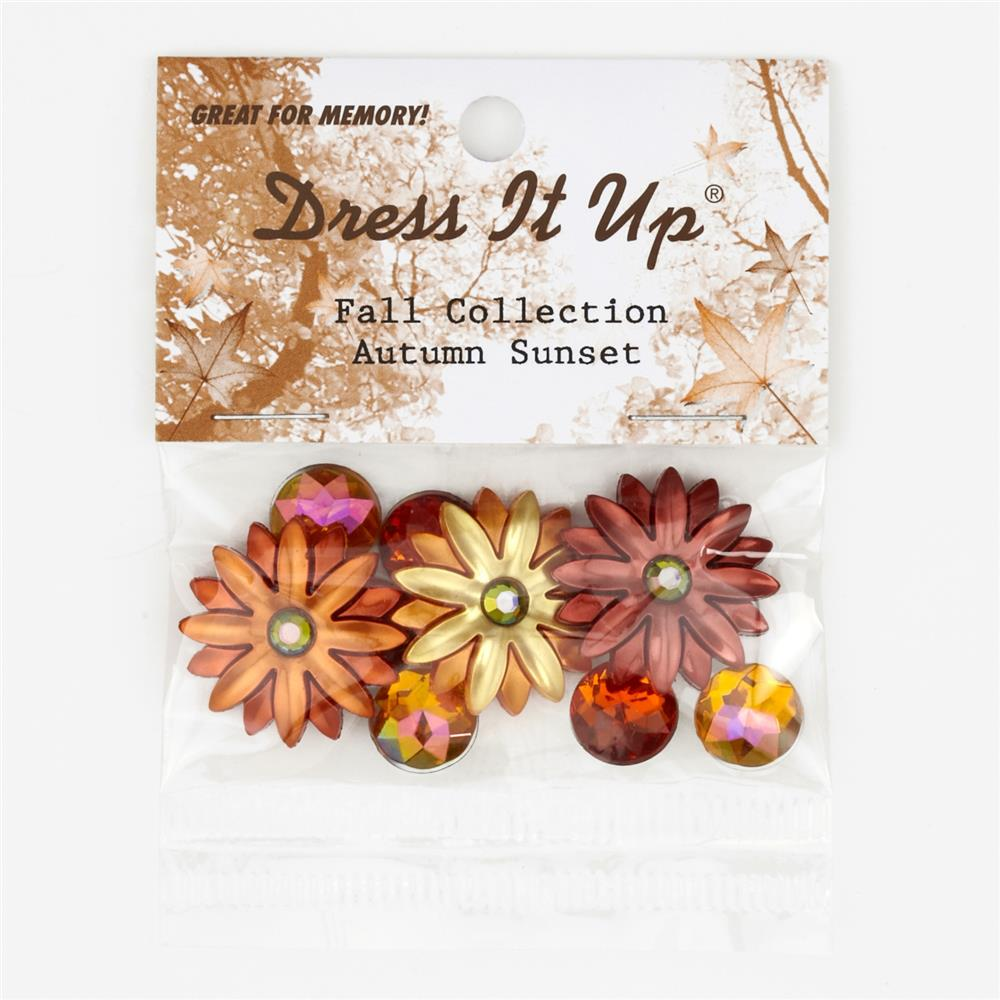 Dress It Up Embellisment Buttons Autumn Sunset
