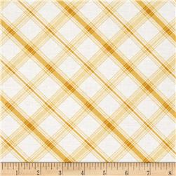 Hideaway Diagonal Plaid Gold
