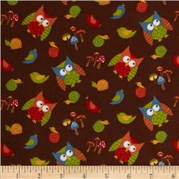 Lumberjack Flannel Tossed Owls Brown