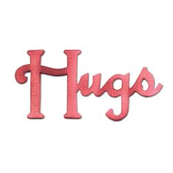 Sizzix Originals Die Phrase, Hugs Medium