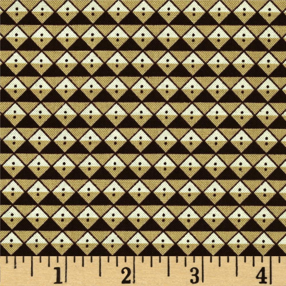 Scrap Happy Diamond Allover Brown/Khaki