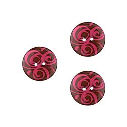 Dill Novelty Button 3/4'' Swirl Brown