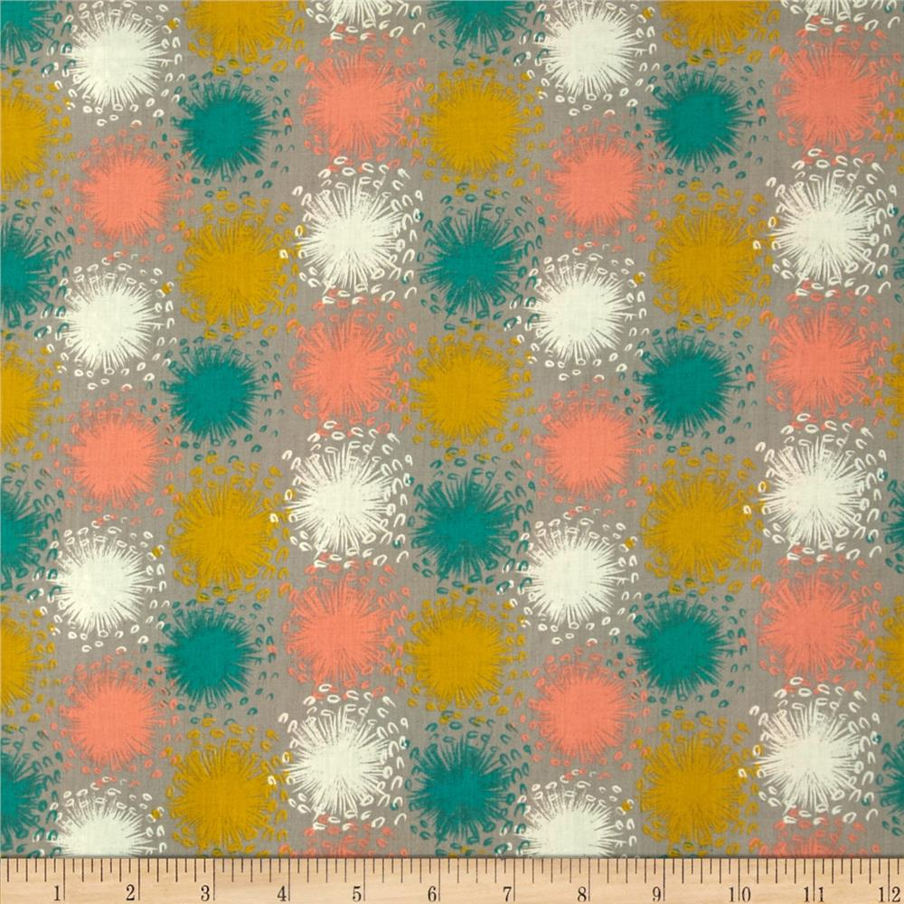 Cotton + Steel Lawn August Dandelion Grey