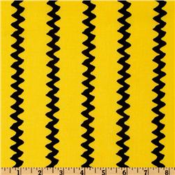Happiness Is - Peanuts Zig Zag Stripes Yellow