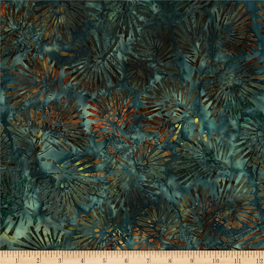 Kaufman Northwood Batiks Large Leaves Evergreen