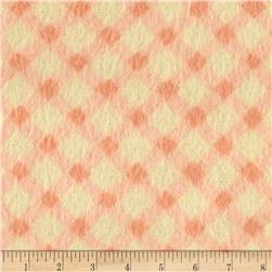 Nursery Rhyme Flannel Diagonal Gingham Orange