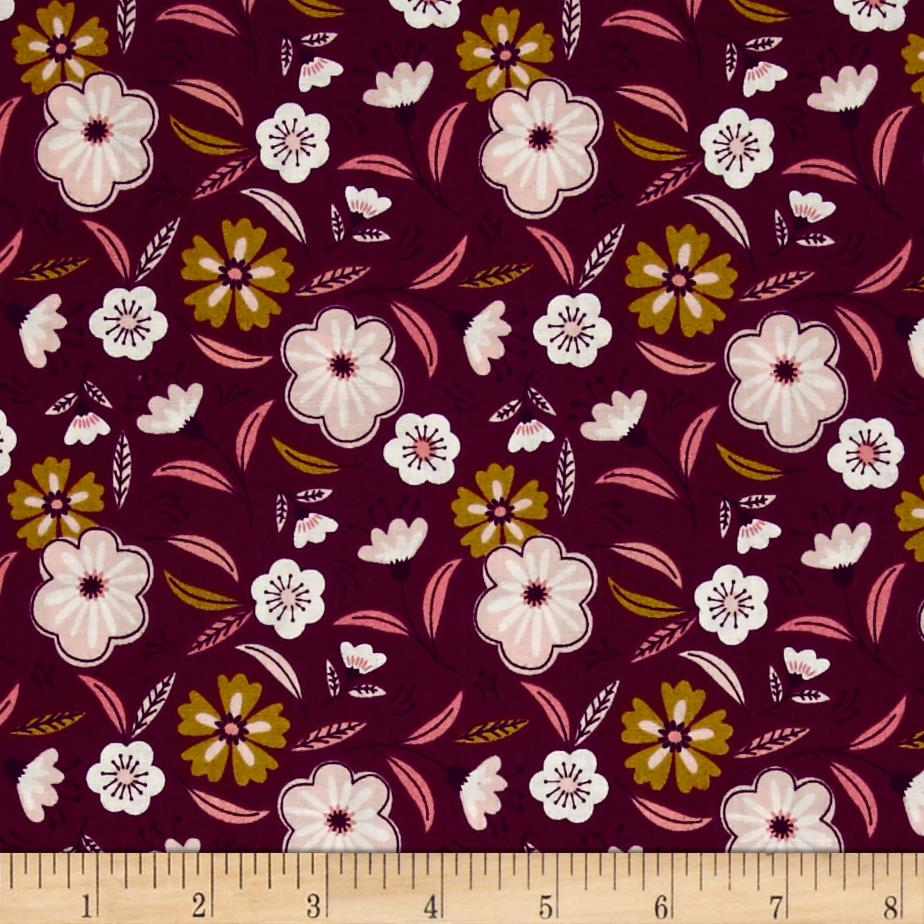Captivate Floral Dark Plum