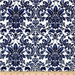 Botanica III The Royal Story Damask White/Royal