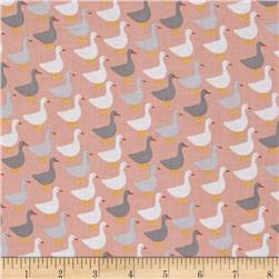 Kaufman Urban Zoology Minis Little Ducks Peach