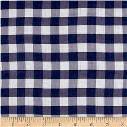 "Riley Blake Double Gauze 1/2"" Gingham Navy"