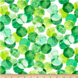 Kanvas Mad For Melon Watercolor Dot Green